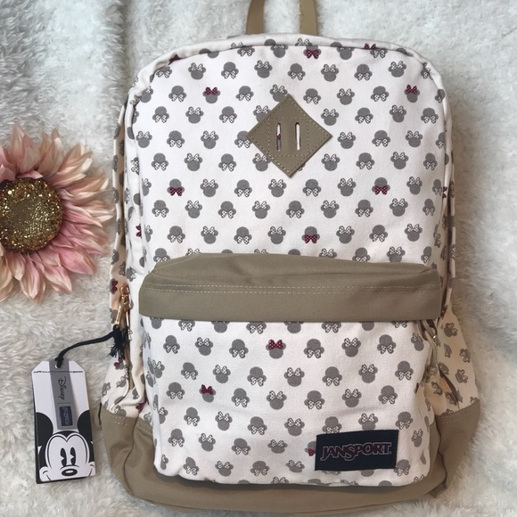 4329312a3a7 Minnie Mouse Jansport X Disney Luxe Backpack NWT